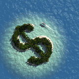 Dollar Sign Island Stock Photography