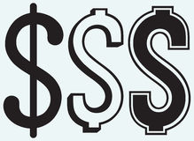 The dollar sign Stock Image