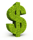 Dollar sign leaf formation Stock Photo