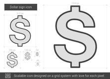 Dollar sign line icon. Stock Image