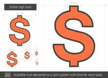 Dollar sign line icon. Royalty Free Stock Image