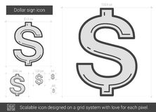 Dollar sign line icon. Stock Photography