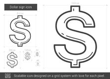 Dollar sign line icon. Royalty Free Stock Photo