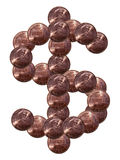 Dollar sign made of coins royalty free stock photo