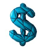 Dollar sign made in low poly style isolated on white background. Stock Images