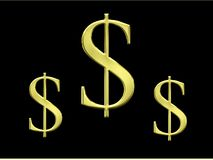 Dollar sign with metal Royalty Free Stock Images