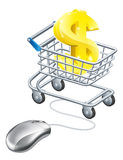 Dollar sign mouse trolley Stock Photos
