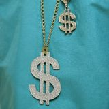 Dollar sign necklace. royalty free stock photos
