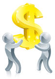Dollar sign people Royalty Free Stock Photo