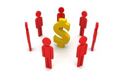 Dollar sign with people Stock Photography