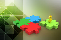 Dollar sign in puzzle piece Royalty Free Stock Photo