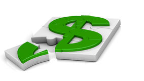 Dollar sign puzzle Royalty Free Stock Image