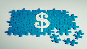 Dollar Sign Puzzle Royalty Free Stock Photo