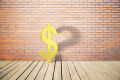 Dollar sign with question mark Stock Photography