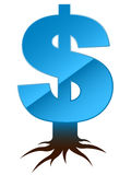 Dollar sign with roots Stock Photos