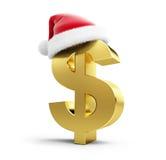 Dollar sign santa hat Royalty Free Stock Photography