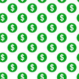 Dollar sign seamless pattern Stock Photos