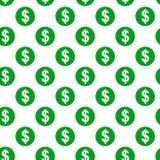 Dollar sign seamless pattern Stock Photos