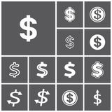 Dollar sign. Set of flat simple web icons (dollar sign, money, finance, banking),  illustration Royalty Free Stock Photos