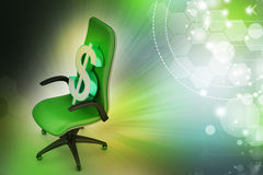 Dollar sign sitting the executive chair Stock Photos