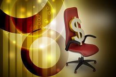 Dollar sign sitting the executive chair Stock Photography