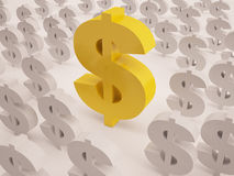 Dollar sign, stand out from other Royalty Free Stock Image