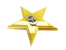 Dollar sign in the star shape royalty free illustration