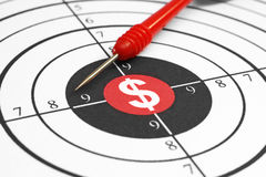 Dollar sign on target Royalty Free Stock Photo