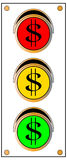Dollar Sign Traffic Light Royalty Free Stock Images