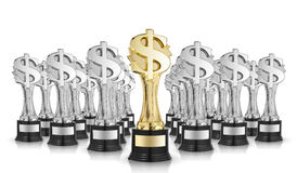 Dollar sign trophies Stock Photo