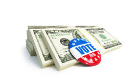 Dollar sign vote USA 2016 badge Royalty Free Stock Photo