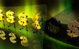 Dollar sign walking Royalty Free Stock Photography