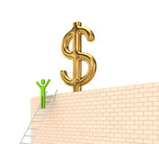 Dollar sign on a wall. Royalty Free Stock Image