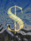 Dollar sign in water Stock Photo