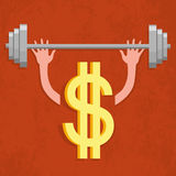 Dollar sign - weightlifter Stock Photos