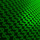 Dollar Signs. Background image of 3D green dollar signs Royalty Free Stock Images
