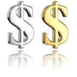 Dollar Signs Royalty Free Stock Photo