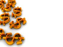 Dollar signs background Royalty Free Stock Photos