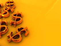 Dollar signs background Royalty Free Stock Image