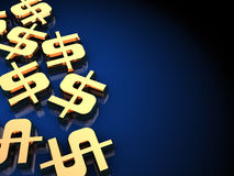 Dollar signs background Stock Photography