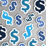Dollar Signs Background Royalty Free Stock Images