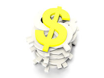 Dollar signs concept graphic Stock Photography