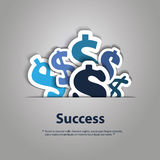 Dollar Signs Design Concept Royalty Free Stock Photography