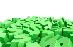Dollar signs on the floor. 3D render Royalty Free Stock Photo
