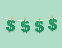 Dollar Signs Hanging String Stock Images