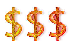 Dollar signs Royalty Free Stock Image