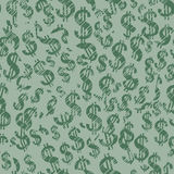 Dollar signs (seamless vector wallpaper) stock images