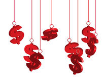 Dollar Signs Tags Isolated Stock Photography