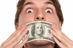 Dollar silence Royalty Free Stock Images