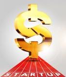 Dollar sing 3. Dollar sing - start up business concept Royalty Free Stock Photos